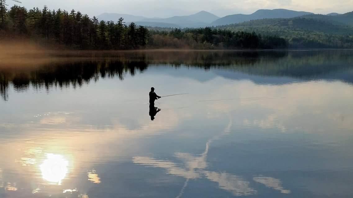 Fly Fishing on Chocorua Lake. Photo: Thad Berrier