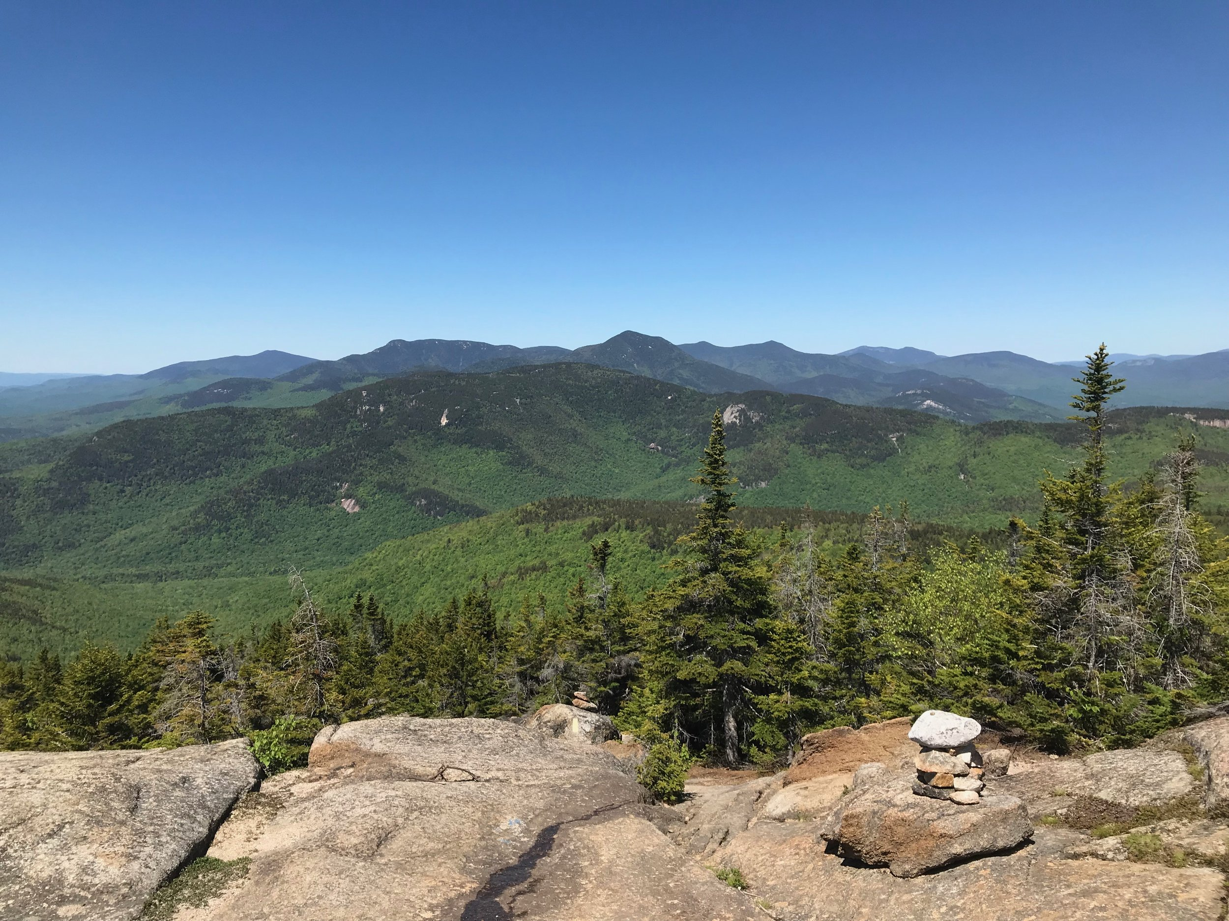 View from near the top of Mount Chocorua, looking toward the Sandwich Range. Photo: Juno Lamb