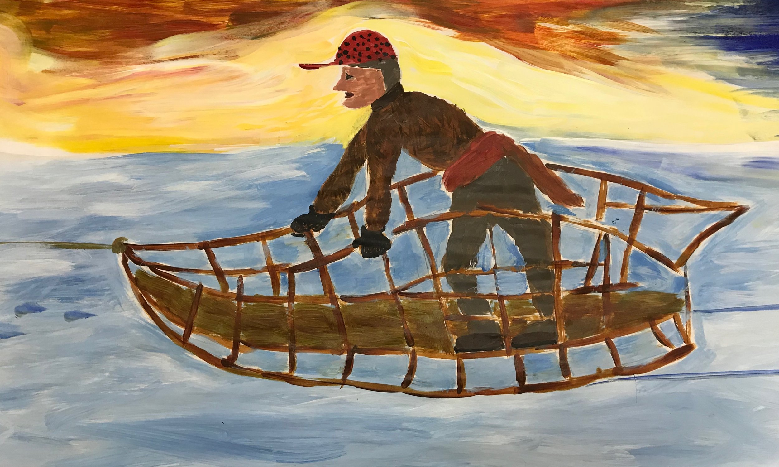 Arthur Walden as depicted in the Chocorua Lake Crankie. Credit: Chocorua Lake Crankie artists