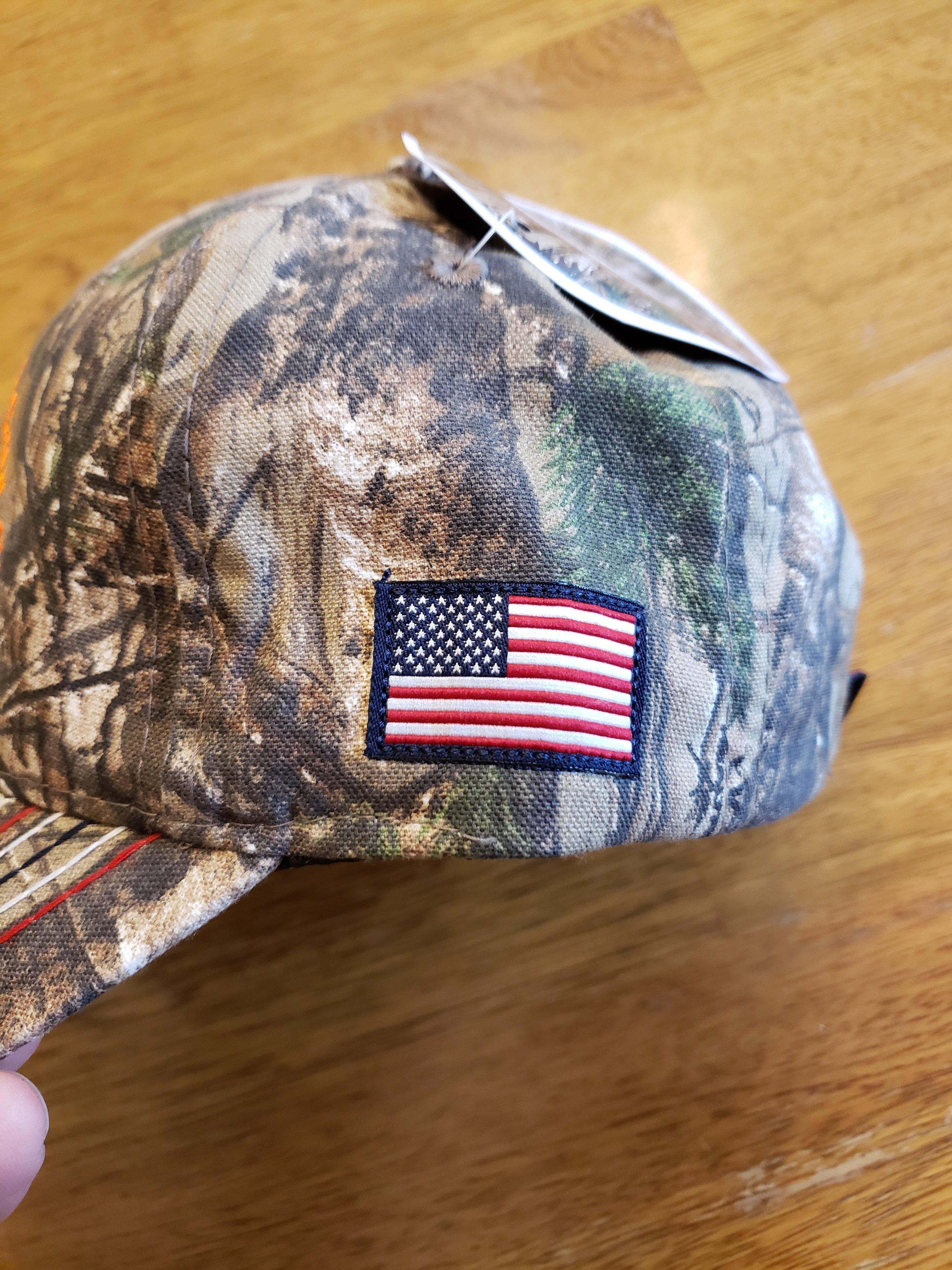 Flag on Camo Hats