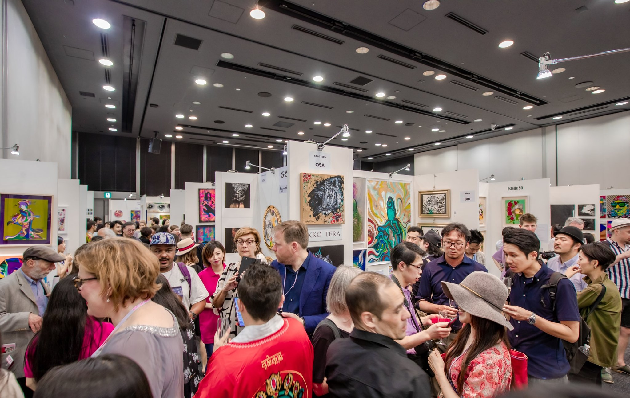Recent Photo From the Very Bustling Tokyo Art Fair!