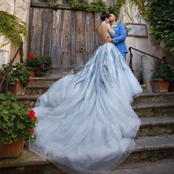 Real bride Bethany in her Ines Di Santo Brielle wedding gown.