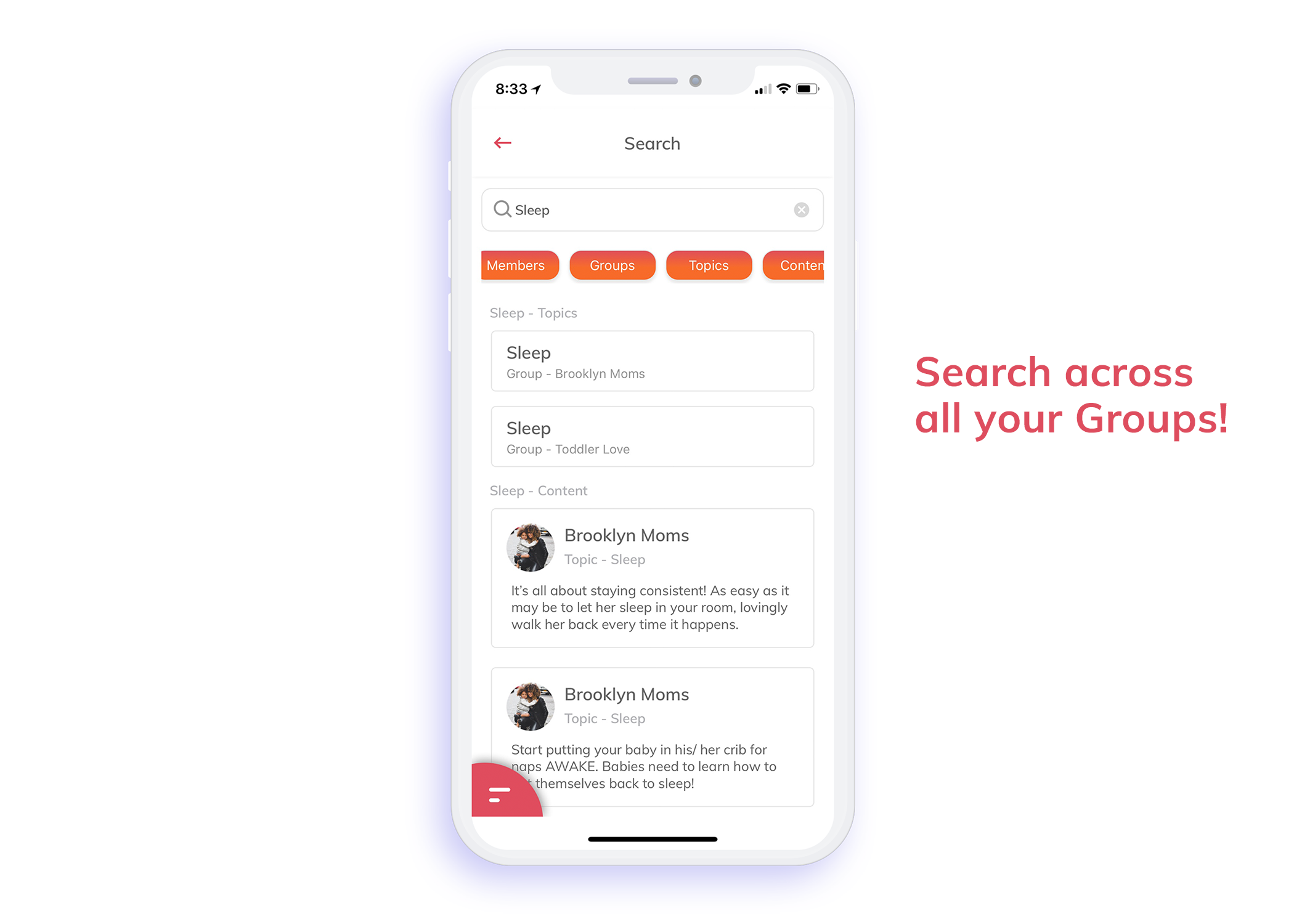 Search across all your Groups