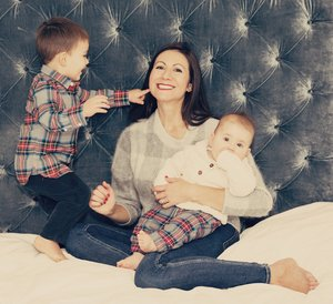 Founder, Hayley Nivelle, with her kids.