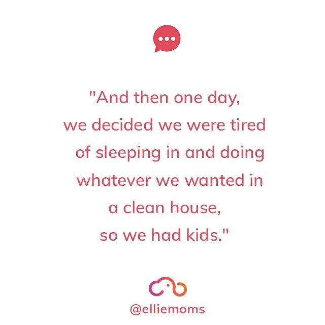 And that was the beginning of the rest of my life ☺⁣ .⁣ .⁣ .⁣ .⁣ ⁣ #elliemoms #momquote #momquotes #motherhoodquotes #momlife #mommylife #lifewithkids #momsofig #mommemes #momhumor #tiredmama #mamaneedssleep #newmom #newmamalife #familytime #dailyparenting #motherhoodrising #honestmotherhood #realmotherhood #ig_motherhood