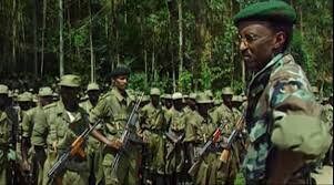 Paul Kagame in the jungle.