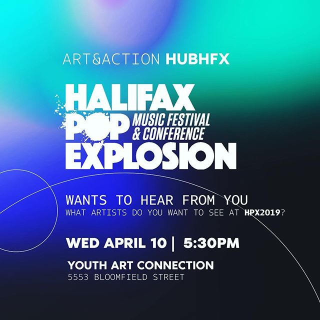 Is there an #artist or an act that #Halifax needs to see? Now is the chance to chime in. Come through to #HUBHFX tomorrow as we partner with @halifaxpopx. The Executive Director of the Music Festival & Conference wants to hear from YOU. Chime in, give your feedback and make suggestions acts for the upcoming season.  #collaborate #grow #discoverhalifax #halifax #arts #hpx