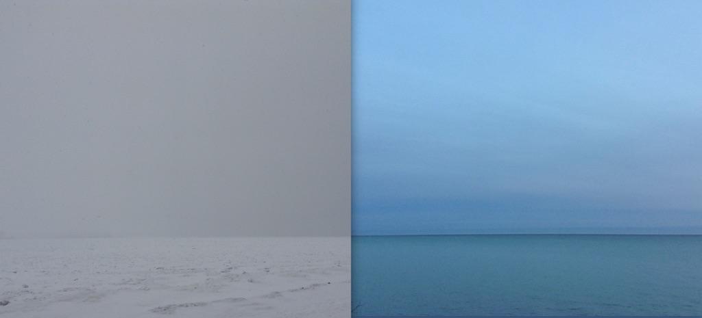 Susan Fothergill Lake Ontario Gray and Blue 2017