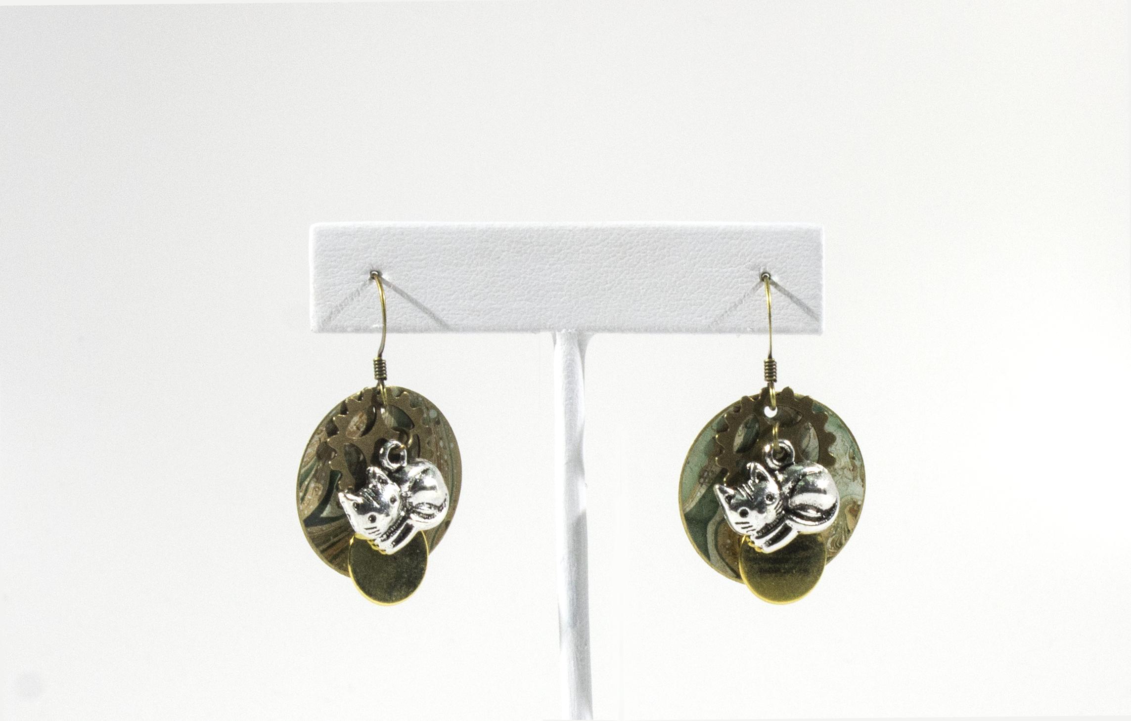 Cat earrings. 2018.