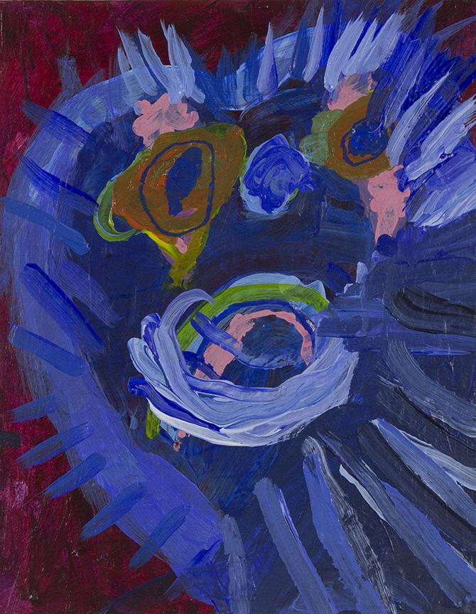 """Lion   Heart . Acrylic on canvas panel. 11"""" x 14""""."""