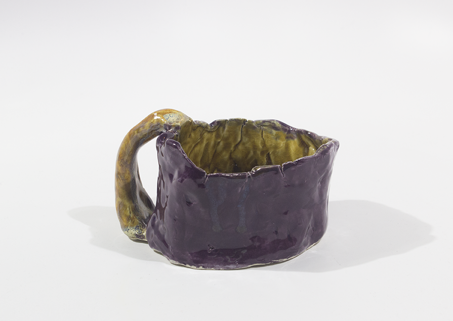 """Untitled . Stoneware with commercial glazes. Oxidation fired to cone 6. 5.75"""" x 4.5"""" x 3.25""""."""