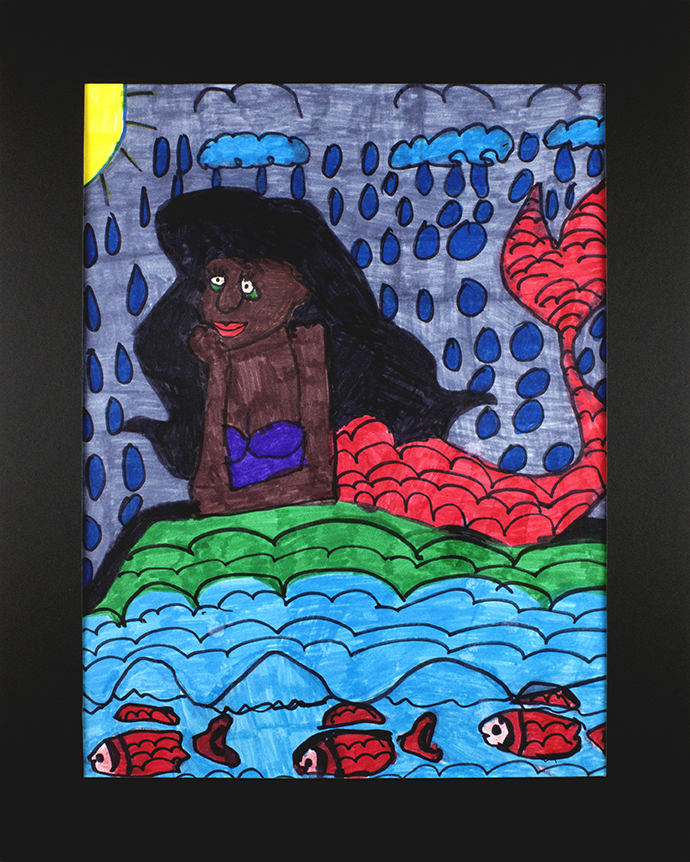 LadyBug-SandyTheBeachedMermaid-Marker-16x20matted.png