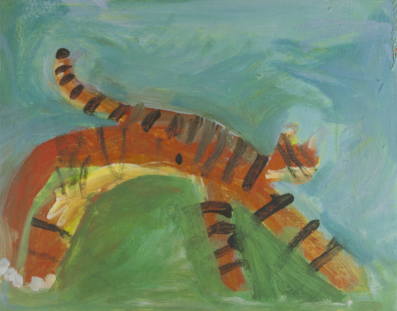Hanneke_Sky_Tiger Cat_Acrylic on canvas panel_14 x 11..png