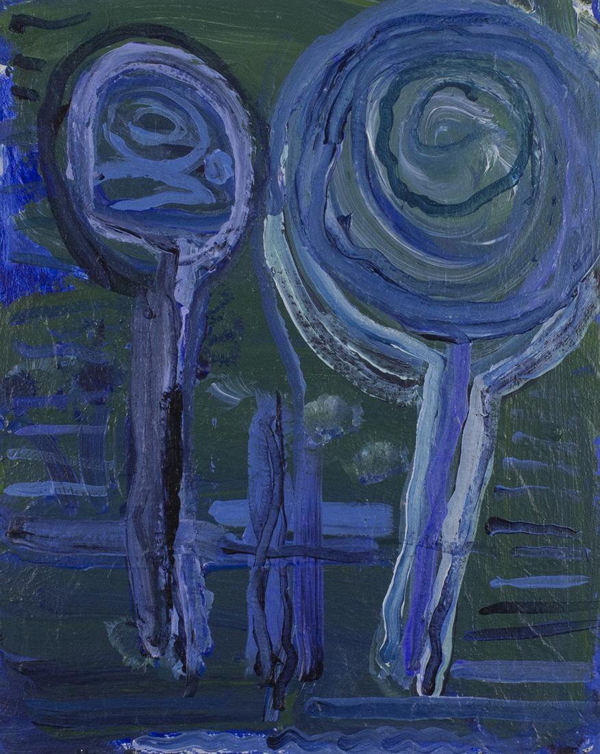 "Ash Tray.  2018. Acrylic on canvas board. 16"" x 20"". Sold."