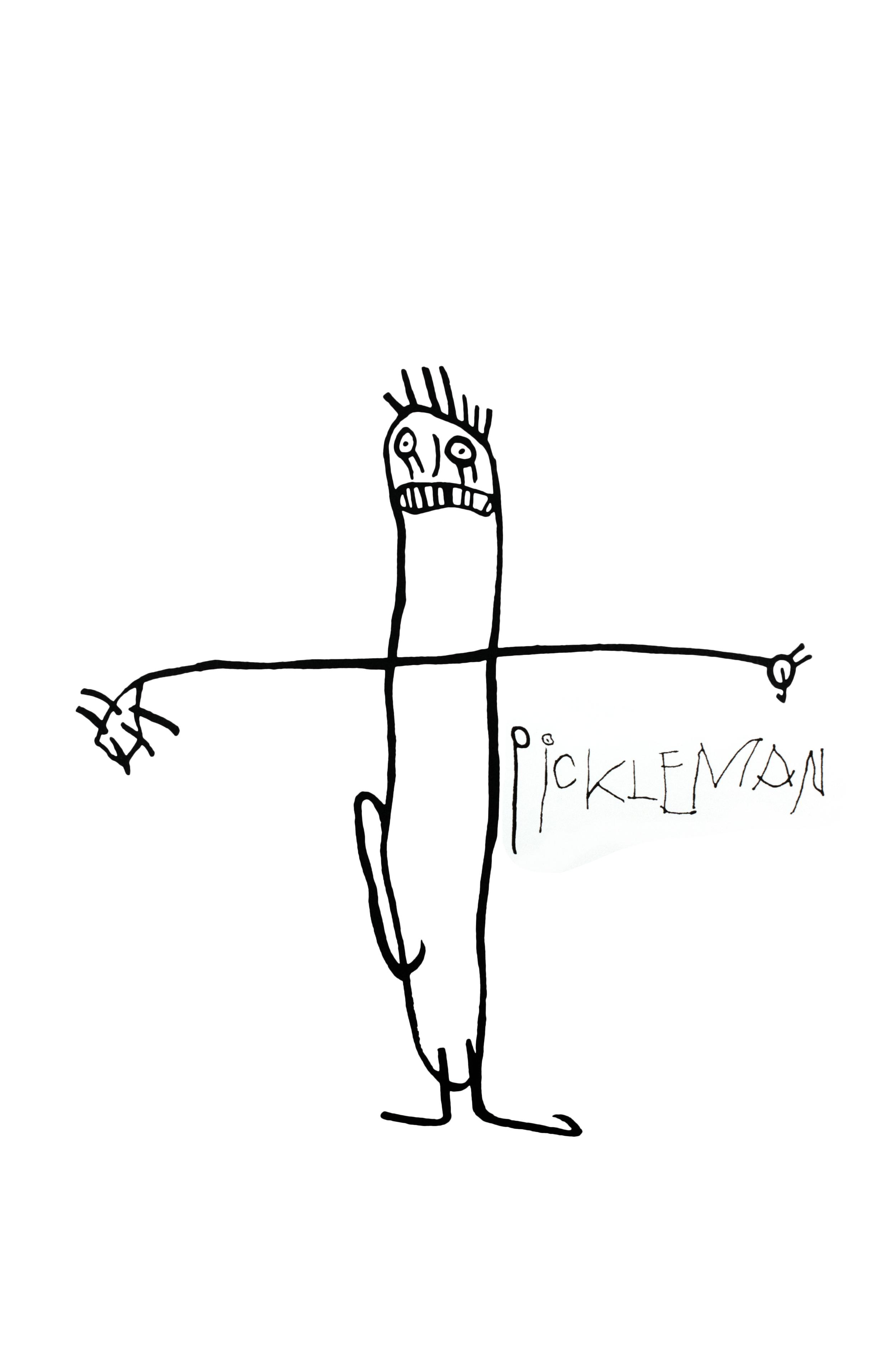 "Pickleman . 2018. Screen Print on paper. 18"" x 24""."
