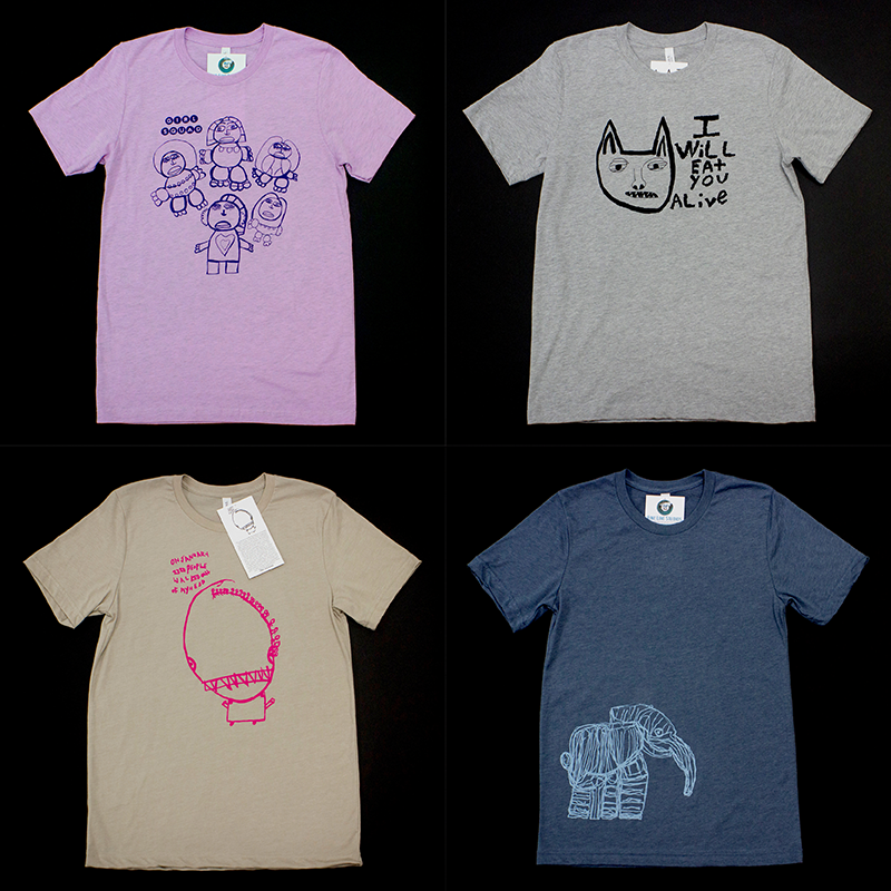 Current t-shirt styles available in sizes S - XL at the St. Louis Artists' Guild Art Shop.
