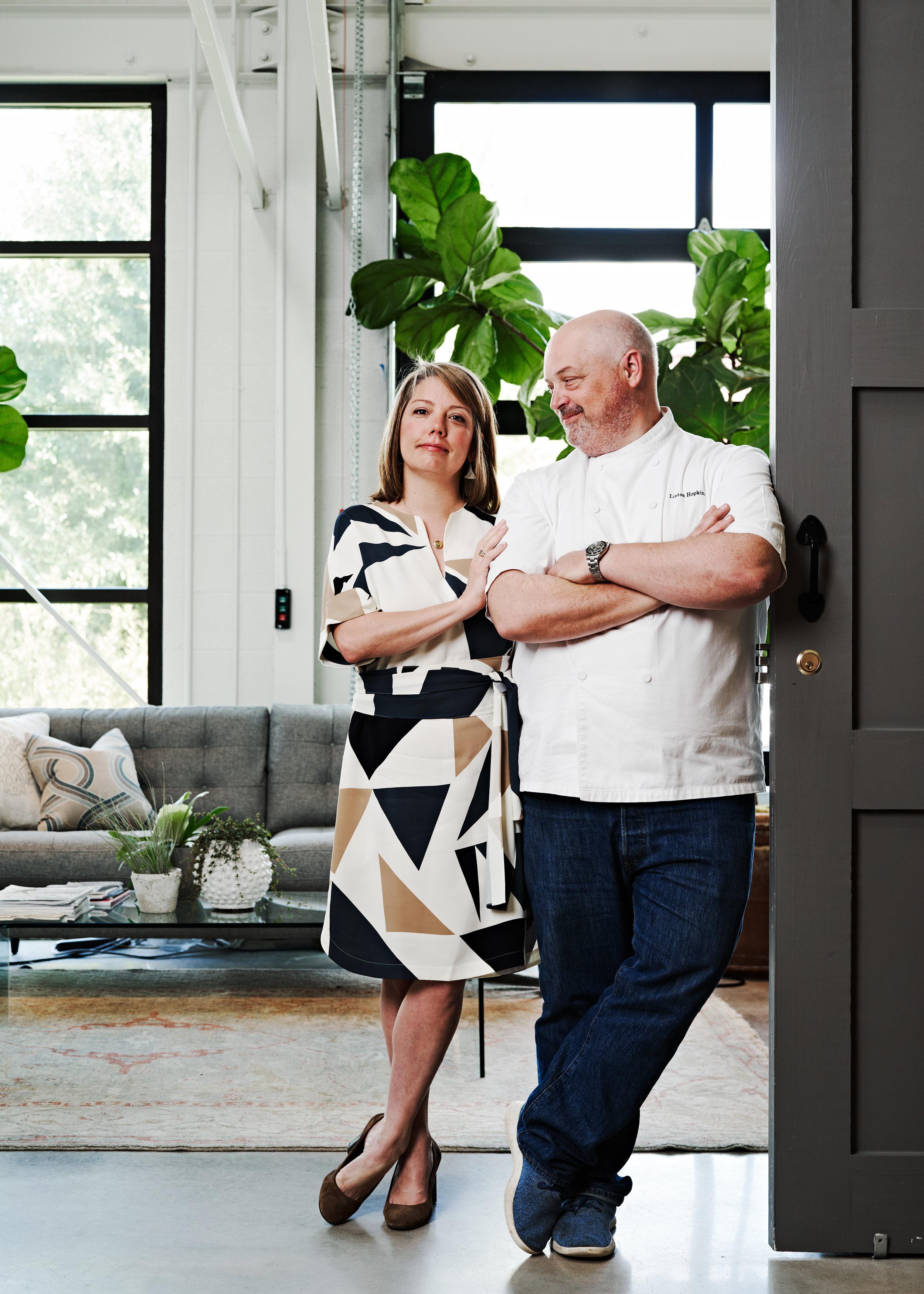 Gina and Chef Linton Hopkins