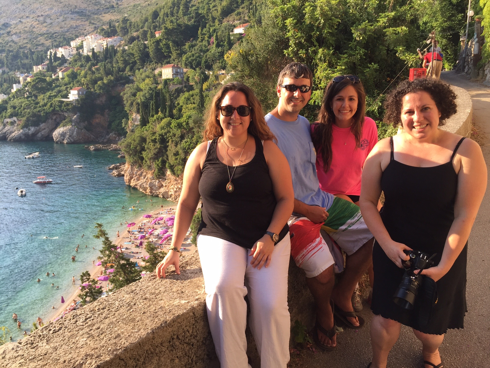 Dr. Peterson with students in beautiful Dubrovnik, Croatia