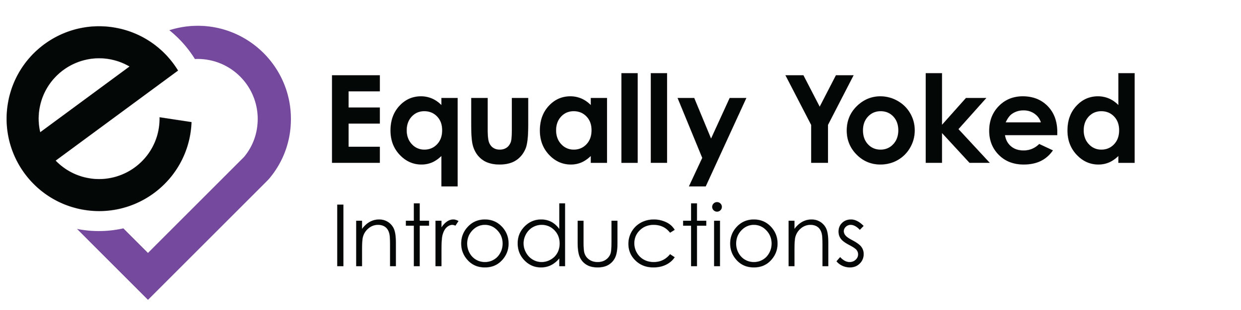 Equally Yoked Introductions Logo Development