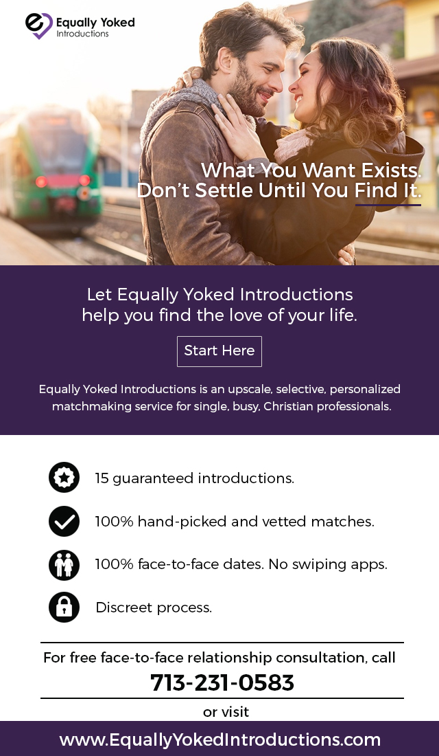Equally Yoked Introductions Email Marketing Campaign.