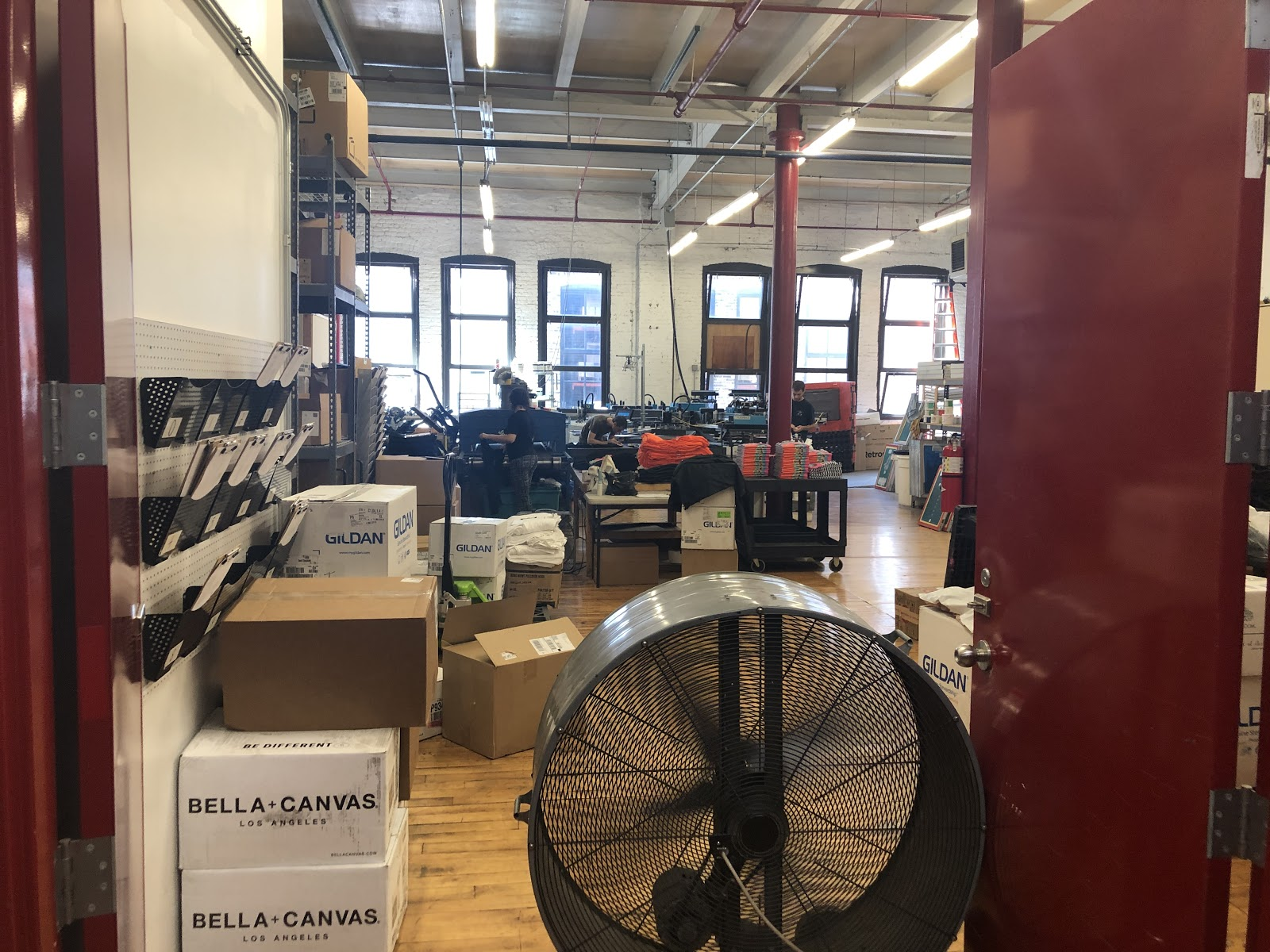 A silk screening company in the incubator services many of the other tenants branded apparel needs. This company will likely be replaced by another apparel company when it outgrows this space