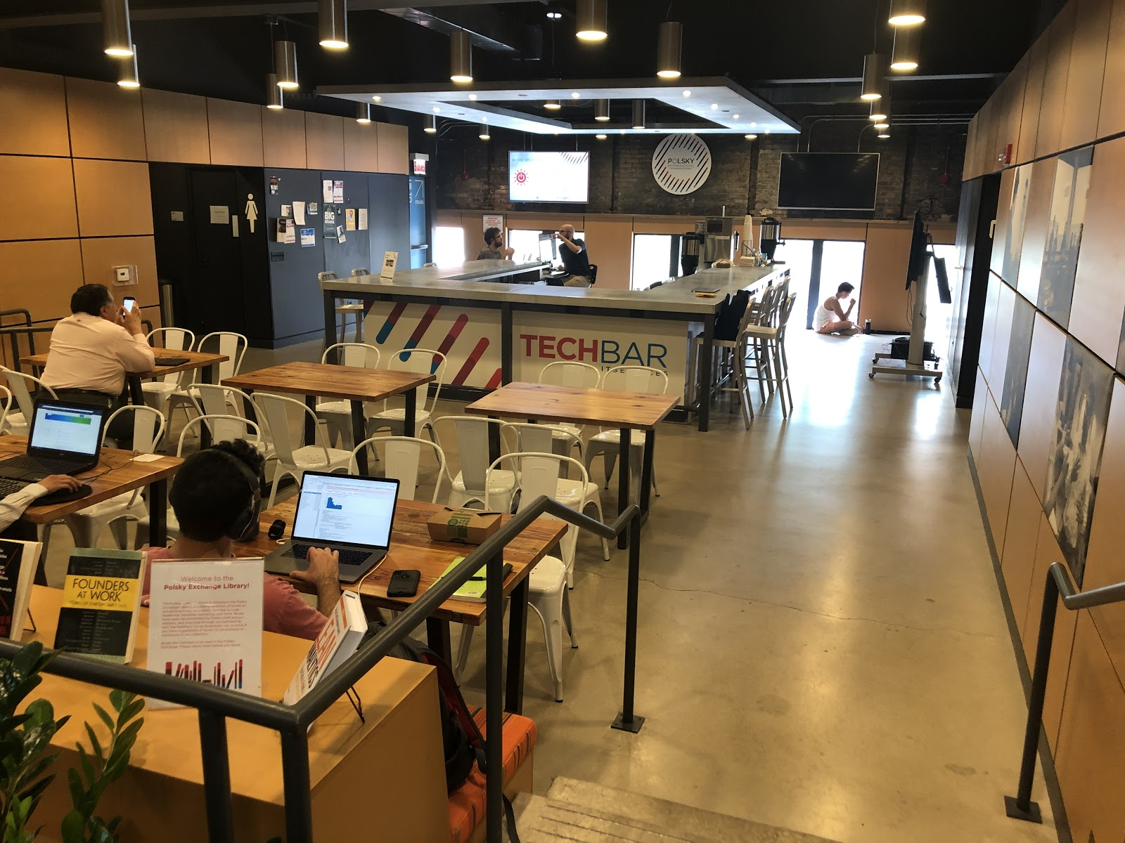 The onsite Tech Bar at Polsky Exchange serves as a more convenient and lower cost alternative to the Genius Bar or Geek Squad for students, faculty and members