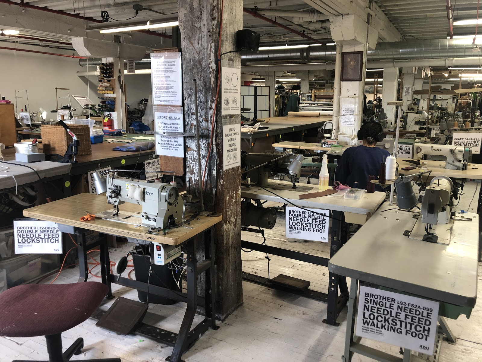 Ponyride shared sewing shop in its new Core City home