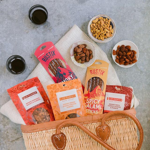 We're ready for summer and @cliffamily has the snacks covered! This collection was specifically created to pair well with @cliffamily 2017 Grenache, which just released and includes @eatrustix salami sticks and three flavors of their delicious spiced nuts. Check out today's stories for more info 🍷 #wineadventures #cliffamily #workhardplayhard