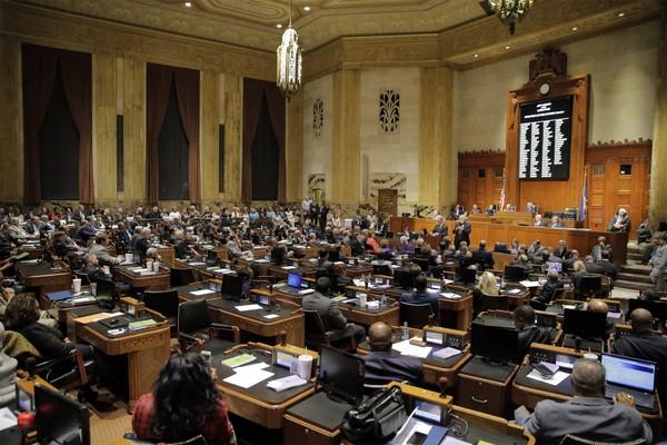 The Louisiana legislature in session. h/t to David Grunfeld and  Nola.com .