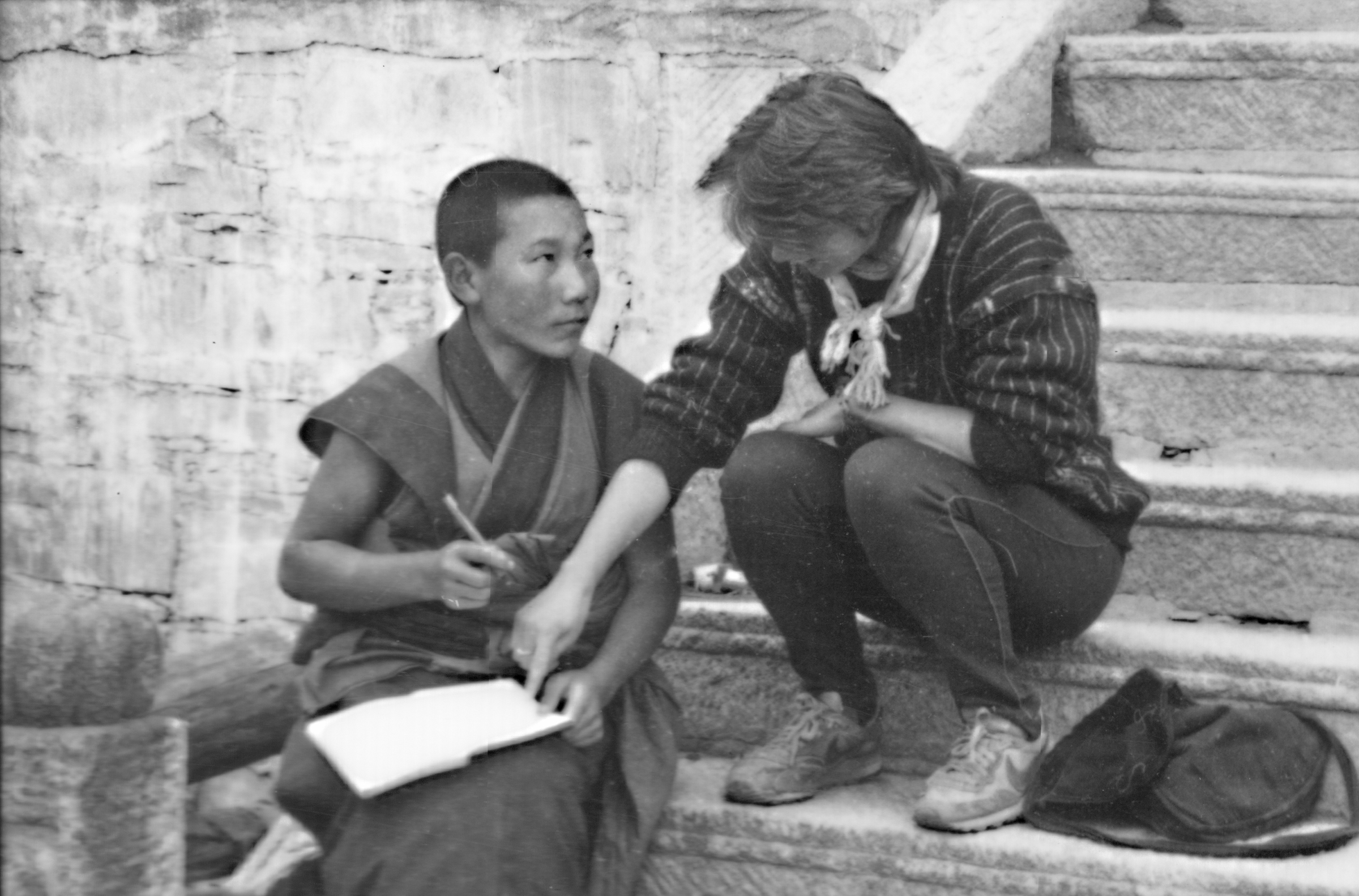 KJ in China writing notebook 1989.jpeg