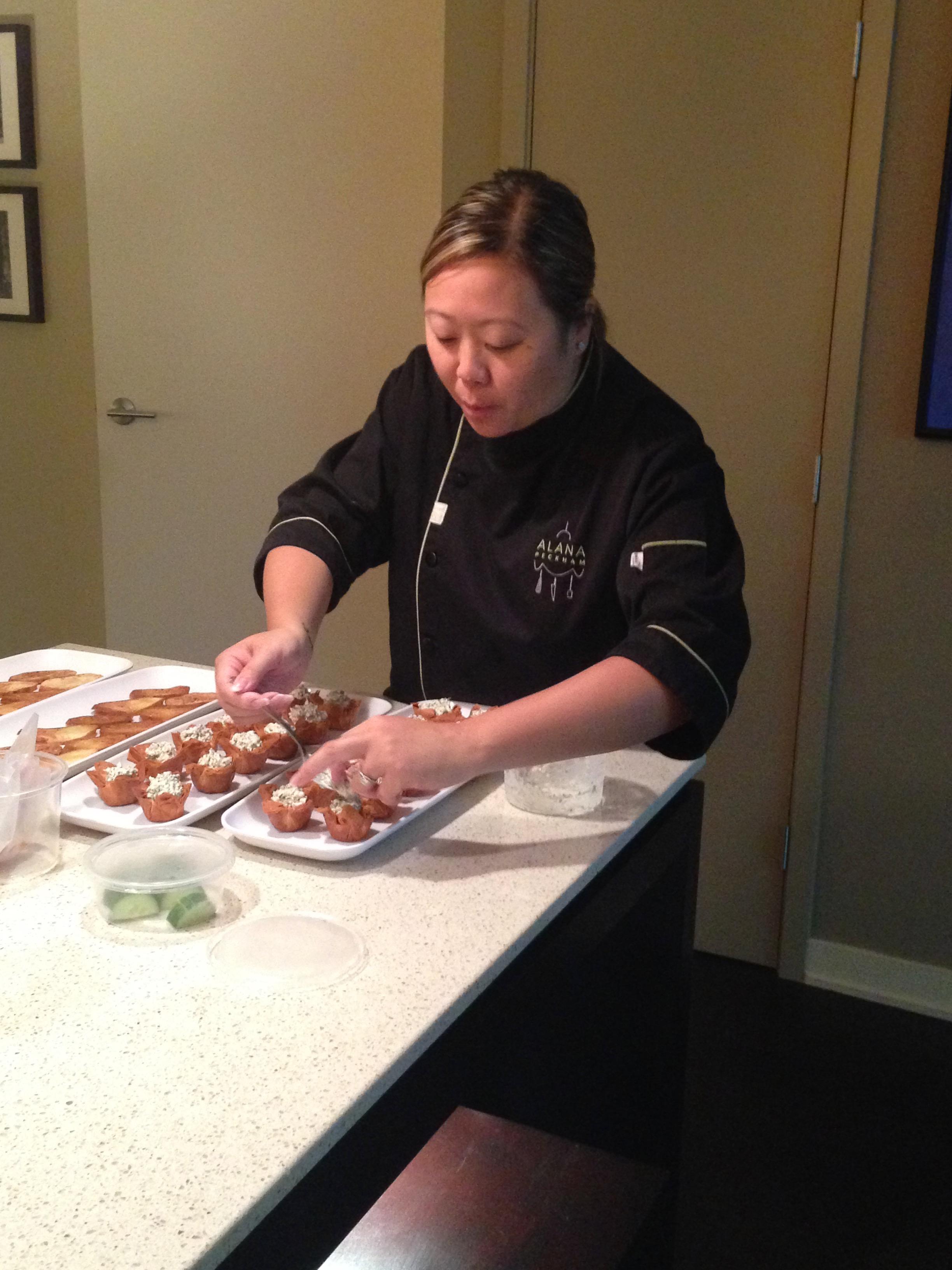 Chef Alana Hard At Work