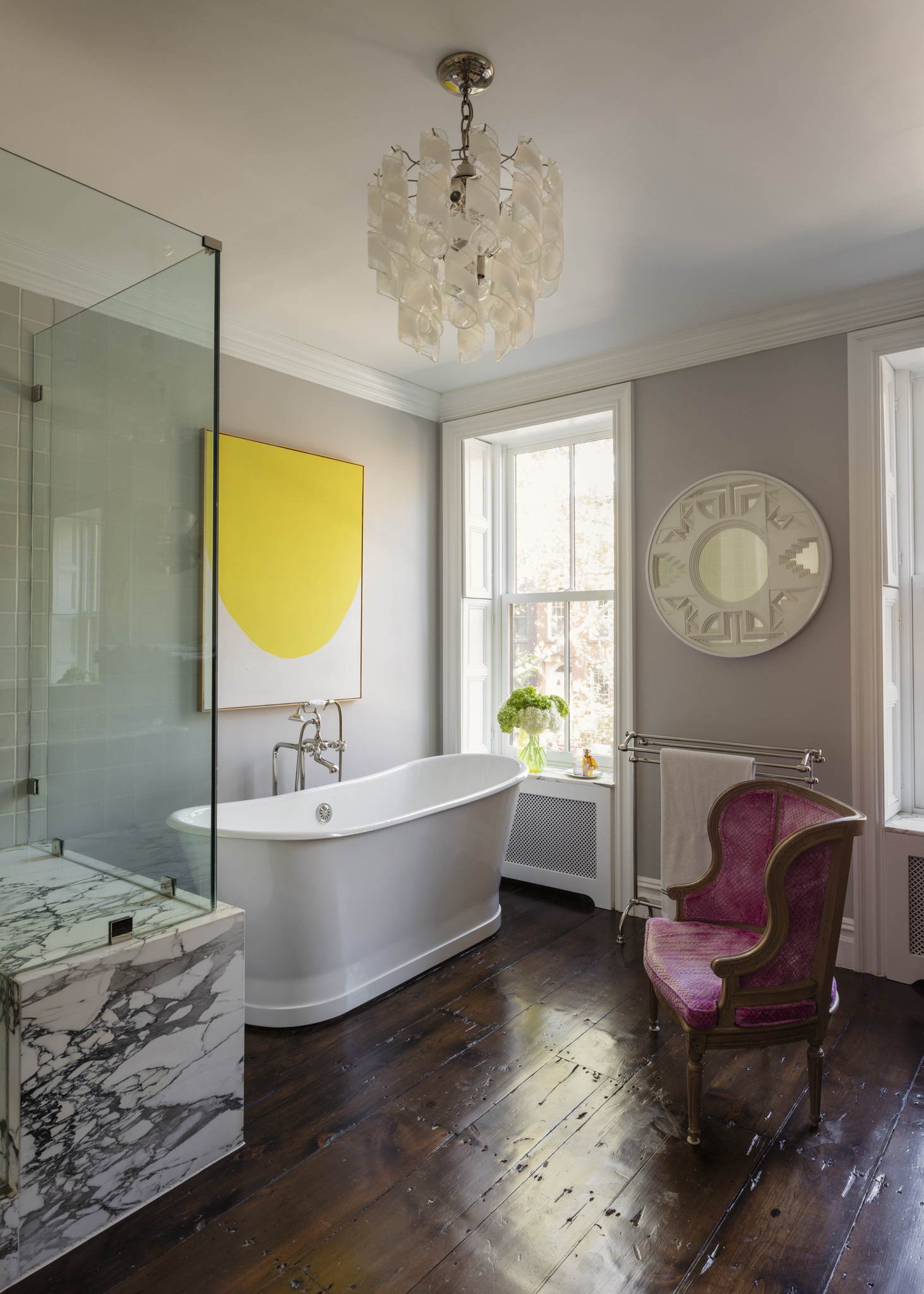 Lauren Stern Design Master Bathroom Brooklyn Brownstone