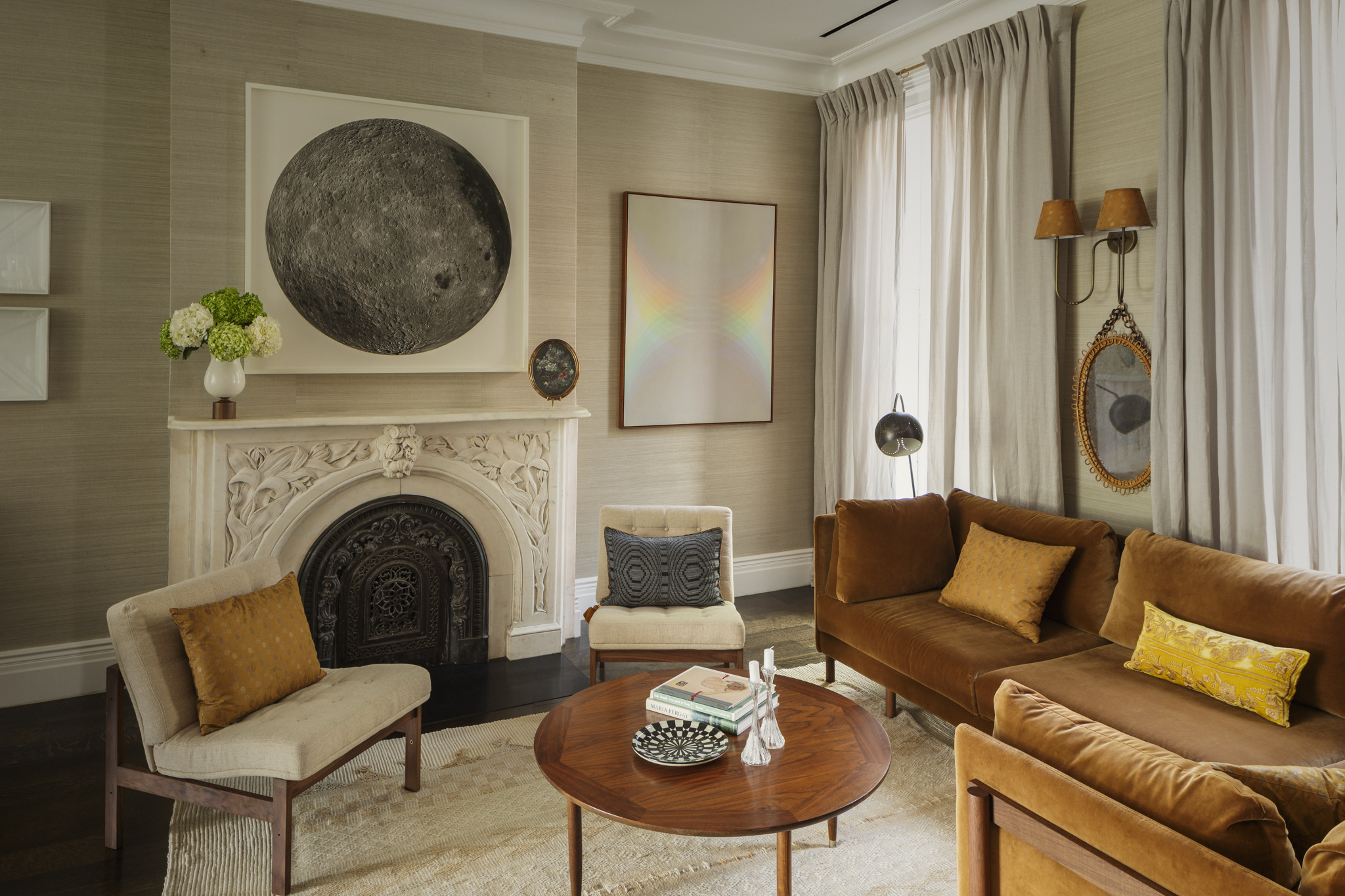 Lauren Stern Design Parlor Living Room Brooklyn Brownstone