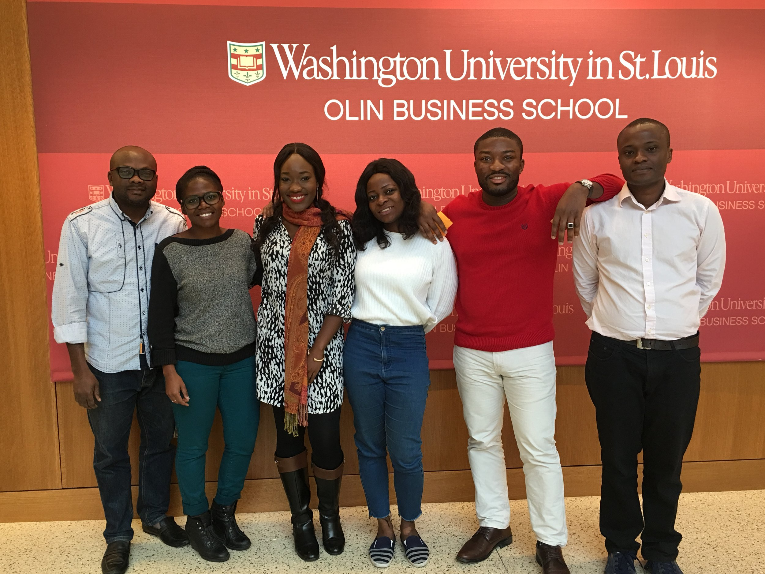OABC Club Founders:   Olin Africa Business Club (OABC) was founded on October 7th, 2017 by first year's class of 2019: Ony Mgbeahurike, Matilda Thomas, Sharon Mazimba, Chioma Ukeje, Eric Onteri & Ubaka Ogbunude. This was recognized as a need to raise awareness about Africa and her rich opportunities and growth.