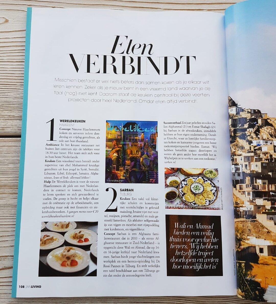 Artikel Eten Verbindt in Jan Magazine