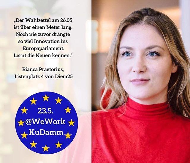 Am Sonntag ist Wahl. Bitte überlegt euch ob es Zeit für was neues ist. Es ist die letzte EU Wahl ohne 5% Hürde.❤️ • • • • • #diem25 #hopeisback #greennewdeal #demokratieineuropa #europawahl