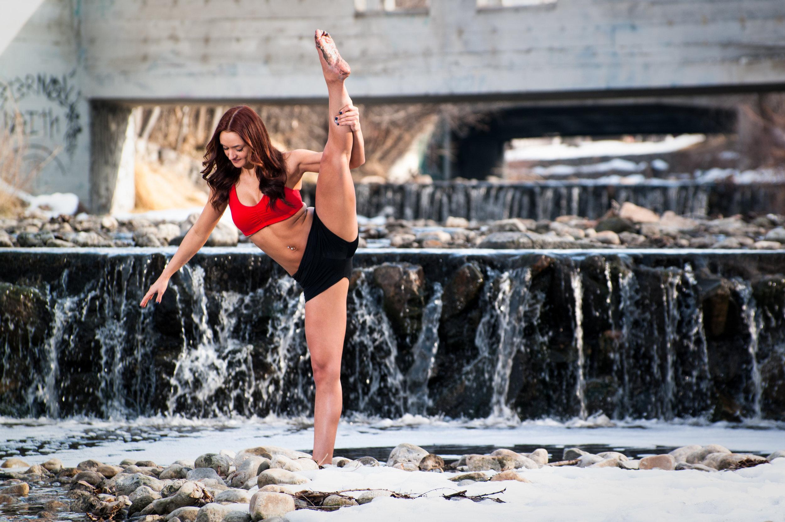 Waterfall dancer.