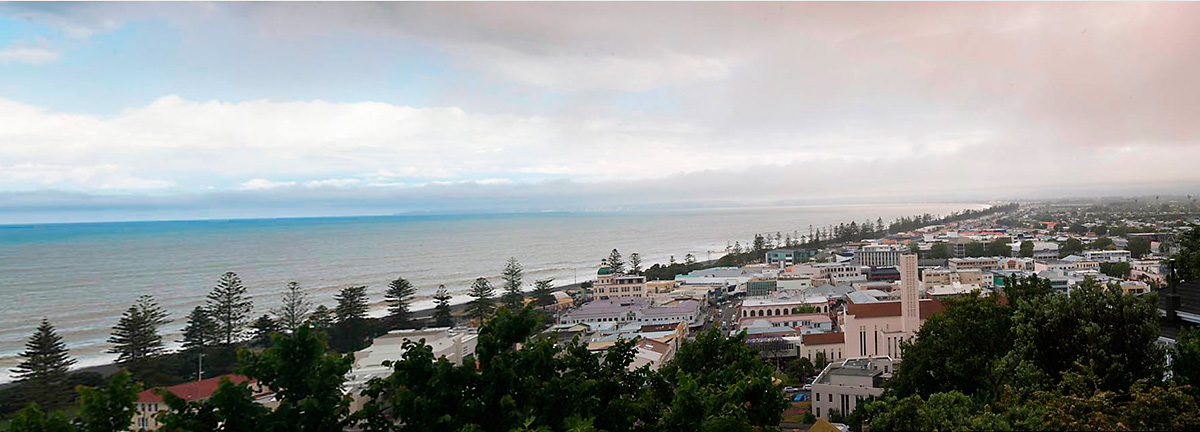 Landscape panoramic of Napier, New Zealand
