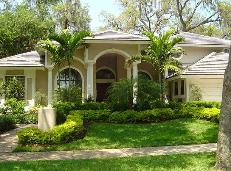 Landscaping that enhances home privacy.