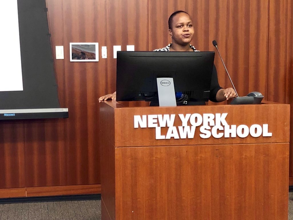WISH Trainee Turquoise speaks at NY Law School