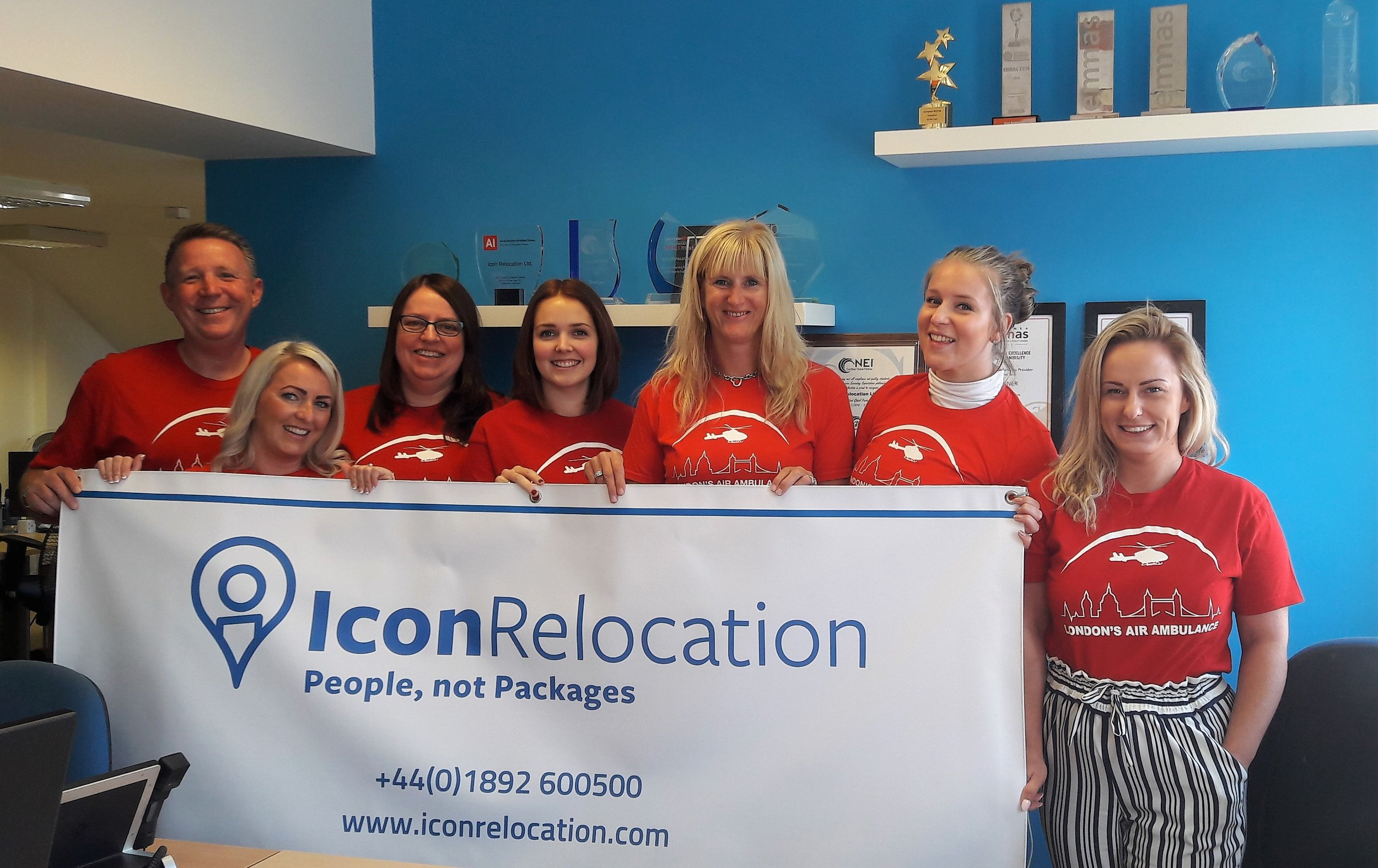 Icon staff members raising money for London Air Ambulances 2018