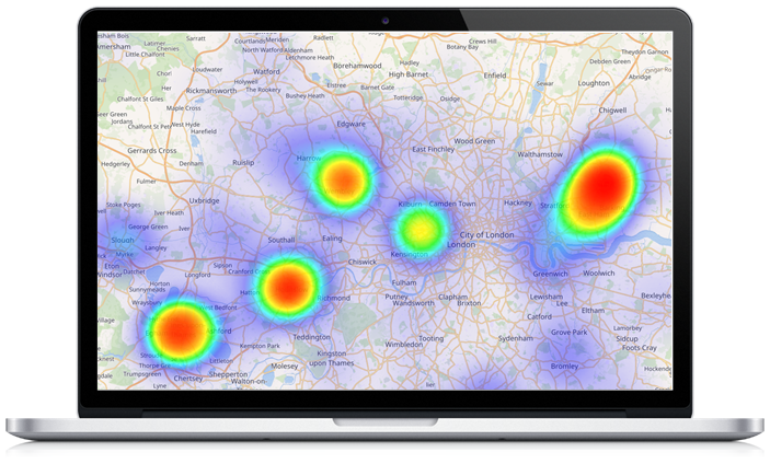 3 - Access to a Property Heat Map - This required client approval to use your data