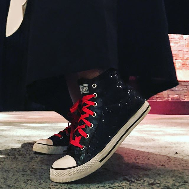 Sister Acacius is sporting some fine kicks during her run in The Divine Sister — opening tomorrow night in our historic theatre! Get your tickets online today! #watervillemaine #nunstyle #thedivinesister #sneakersofinstagram #communitytheatre #sweetkicks