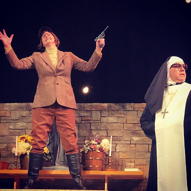 Nothing to see here, move along. LIES! There is so so so very much too see, secret, secret things, at tonight's opening night performance of The Divine Sister! Curtain goes up at 7:30pm, but our opening night reception starts at 6:30pm! Let us entertain you with the power of heavenly humor and nun-stop laughs! #watervillemaine #operahouse #openingnight #thedivinesister #whennunsgobad #sisterwalburga #mainetheatre #communitytheatre #comedy
