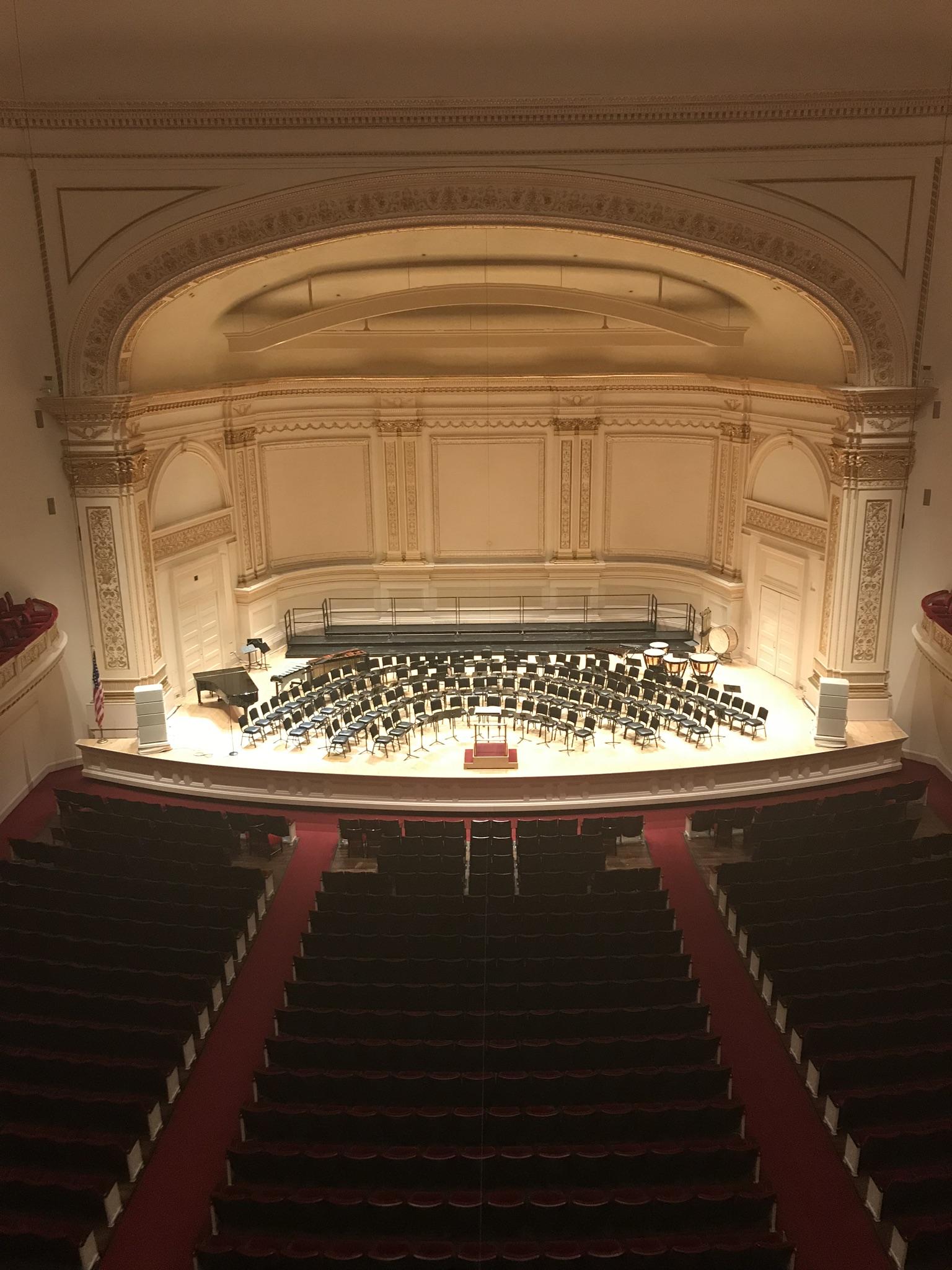 Stage Inside Carnegie Hall