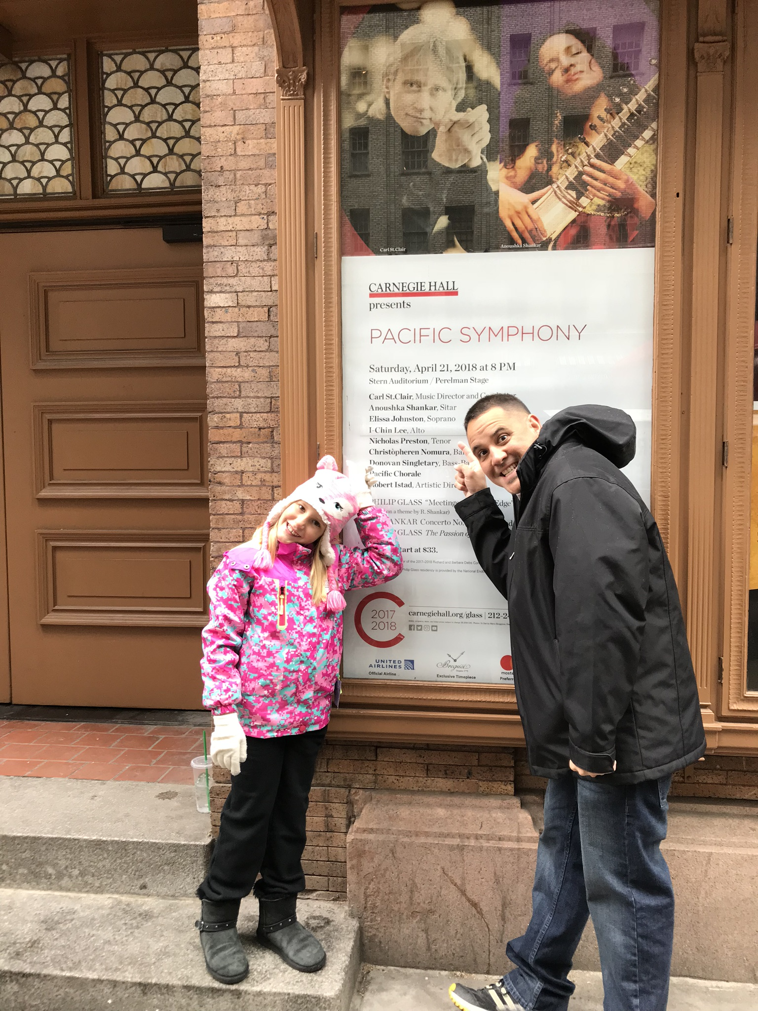 Outside of Carnegie Hall