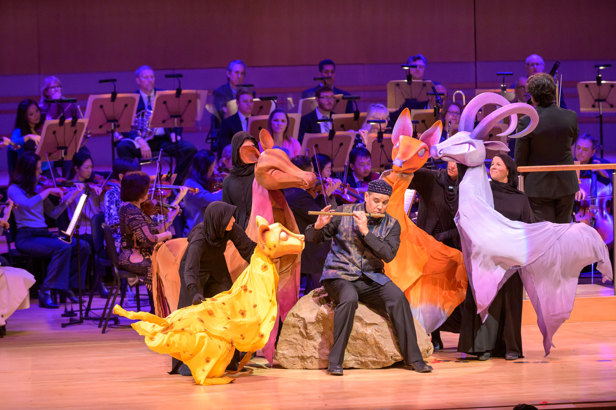 Playing the role of Prince Tamino in the Family Concert series, January 2019. Roger Kalia conducting Pacific Symphony.  Photo courtesy of Pacific Symphony