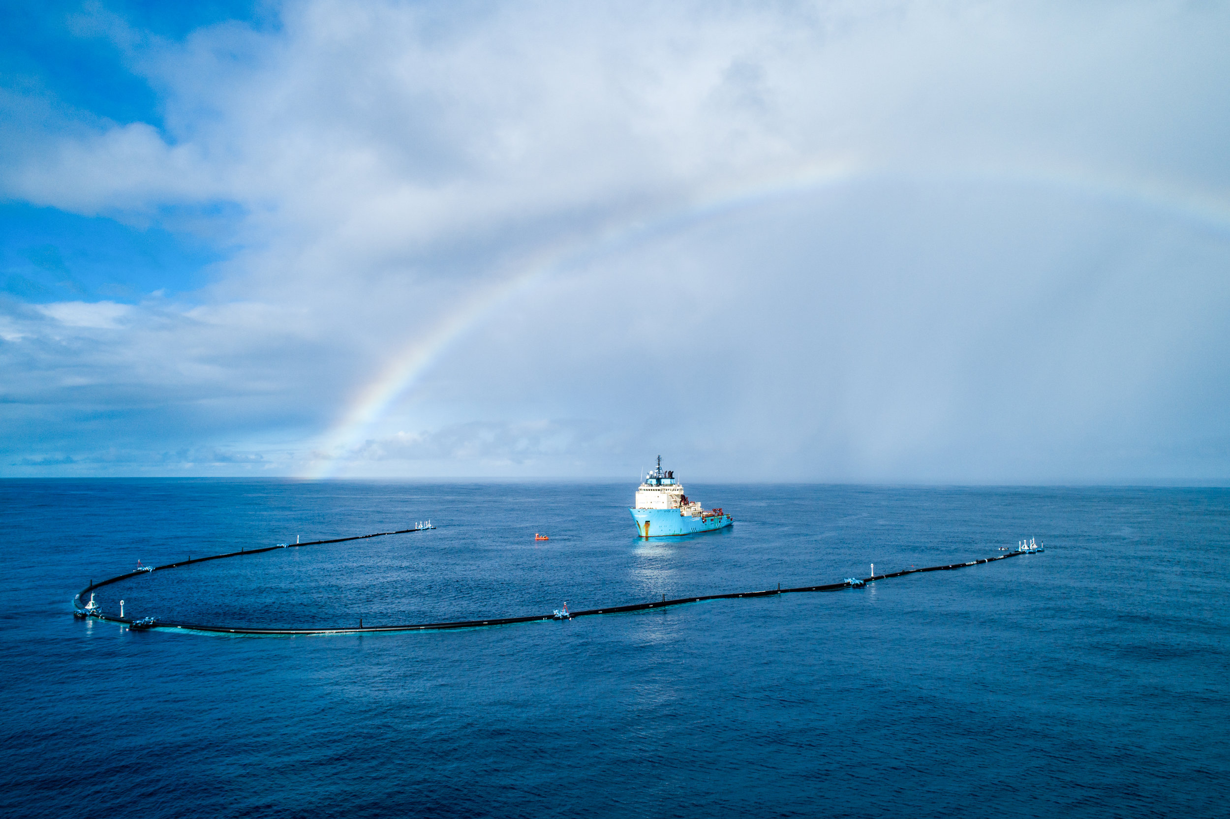 The Ocean Cleanup in the Great Pacific Garbage Patch.