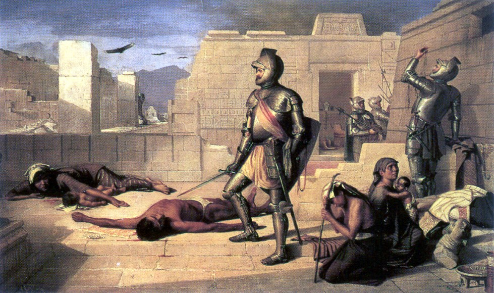 The arrival of the conquistadors resulted in the deaths of hundreds of thousands of indigenous people.