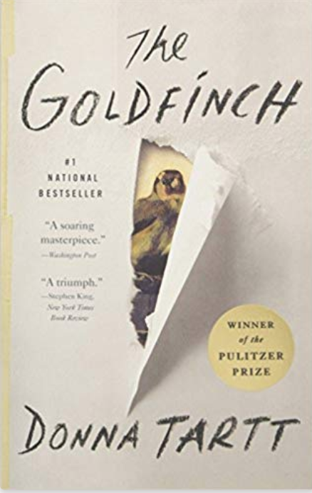"Marc is reading ""The Goldfinch"" by Donna Tartt"